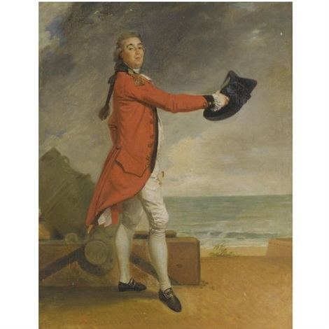 portrait of major george maule acting chief engineer of madras by johann joseph zoffany