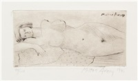 reclining nude by milton avery