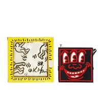 drawing on pop shop am-fm radio box by keith haring