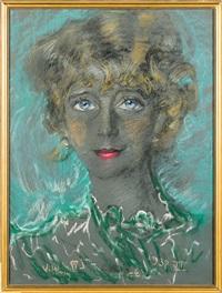 woman's portrait by stanislaw ignacy witkiewicz