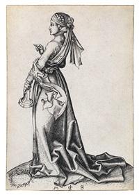 die erste törichte jungfrau by martin schongauer
