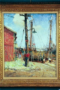 fishing boat at dock by anna s. fisher