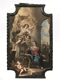 vergine annunciata by costantino pasqualotto