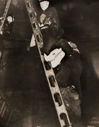 untitled (firemen rescue), ca.1937 by weegee