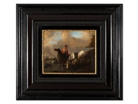 peasant with horses by philips wouwerman
