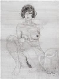 the bathing woman by xia yu