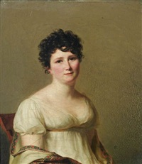 portrait de madame jean-conrad hottinguer, née martha elisa redwood by firmin massot
