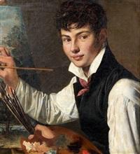 autoportrait à la palette by françois louis dejuinne