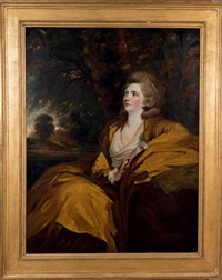 portrait de mary, comtesse harcourt (1751-1833) by joshua reynolds