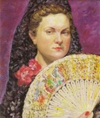 retrato de su mujer by jose aguiar garcia