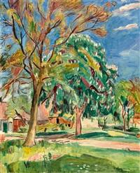 grosser kastanienbaum in langenargen by hans purrmann