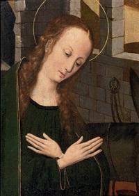 the virgin at prayer by hans memling