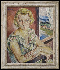 portrait of a blonde by maria-mela muter