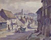 kersey high street by leonard russel squirrell