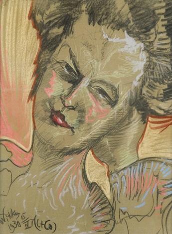 portrait of helena bialynicka by stanislaw ignacy witkiewicz
