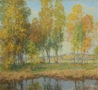 october festival by willard leroy metcalf