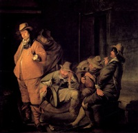 rauchende soldaten in der wachstube by simon kick