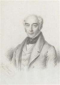a gentleman in coat, waistcoat and tied cravat, self portrait (?) by raffaele fidanza
