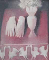 pink gloves by vladimir komarek