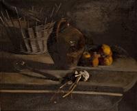 nature morte aux pommes et aulx by pierre jouffroy