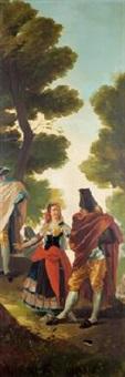 la maja y los embozados (fragment) by francisco-javier amerigo y aparici
