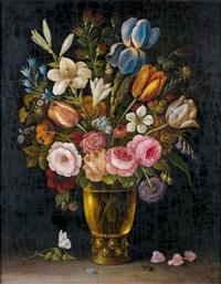 vase de fleurs by abraham mignon
