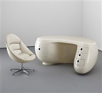 boomerang desk and chair by maurice calka
