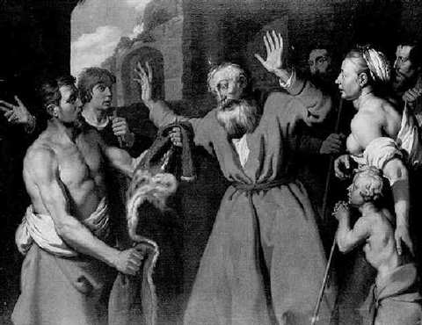 jacob shown the cloak of joseph by lambert jacobsz