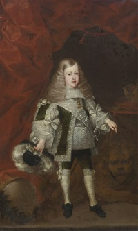 portrait of carlos ii as a child by sebastian de herrera barnuevo