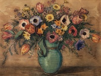 floral still life by kurt haase-jastrow