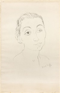 portrait de femme en buste by raoul dufy