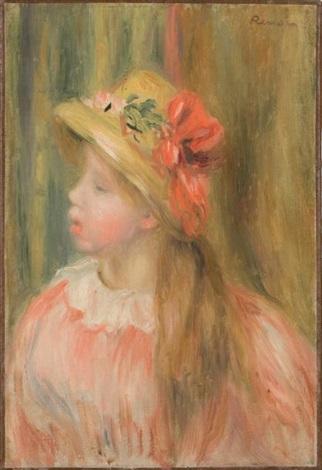 portrait de jeune fille au chapeau de paille by pierre auguste renoir