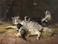 catfamily by julius adam (unattributable)