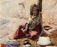 fileuse à bou saada by alphonse léon germain-thill