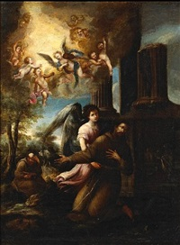 st. francis in the arms of an angel by juan de valdés leal