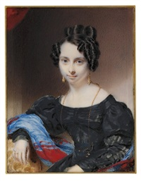 a young lady in black dress by william jnr. patten