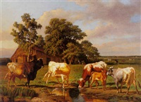 watering cows by charles coumont