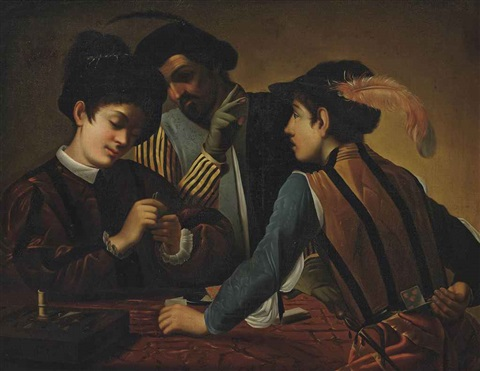 the cardsharps by michelangelo merisi da caravaggio