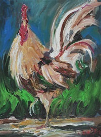 cockerel by lorna millar