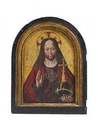le christ benissant by hans memling