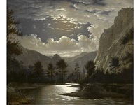 moonlit river gorge by fortunato arriola
