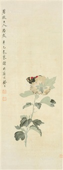 花卉 立轴 绢本 by xie zhiliu