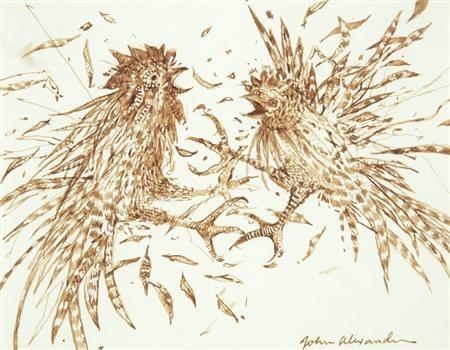le cockfight study by john alexander