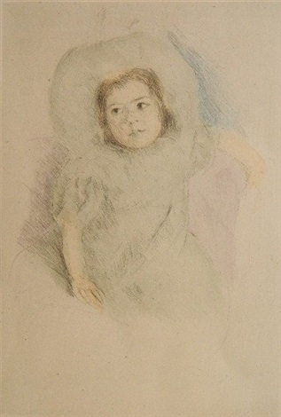 margot wearing a bonnet no 1 by mary cassatt