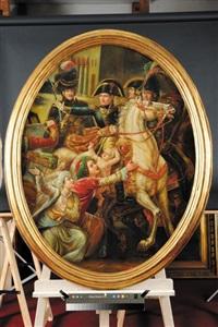 trait de clemence du general bonaparte envers une famille arabe lors de l'entree de l'armee francaise a alexandrie le 3 juillet 1798 by guillaume françois colson