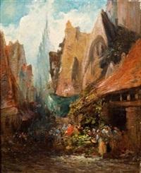 le marché à rouen by paul denarie