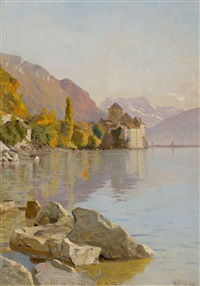 château de chillon by francois-louis-david bocion