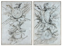 trophées d'armes (pair) by francesco guardi