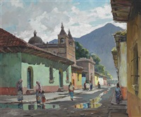 calle de la escuela de christo, antigua, guatemala by anthony thieme