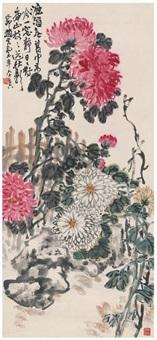 南山秋菊图 by zhao yunhe